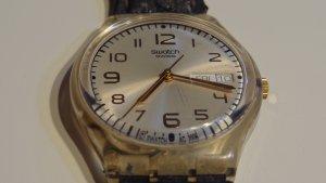 Swatch Uhr mit Lederarmband