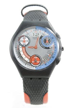 Swatch Uhr mit Lederarmband mehrfarbig Casual-Look