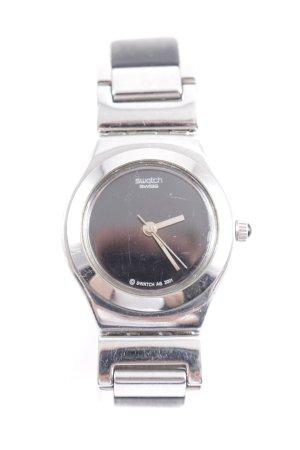 Swatch Uhr mit Metallband schwarz-silberfarben Casual-Look