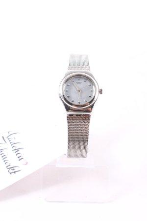 Swatch Uhr mit Metallband silberfarben klassischer Stil