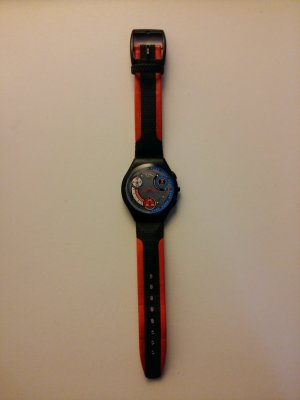 Swatch Analog Watch multicolored leather