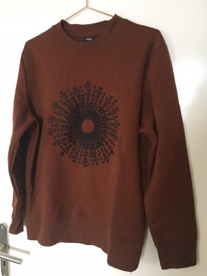 H&M Sweat brun rouge coton