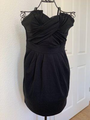 H&M Vestido bandeau negro