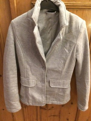 Sweat Blazer grau meliert
