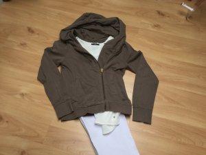 Sweat-Jacke asymmetrisch geschnitten (Biker-Stil)