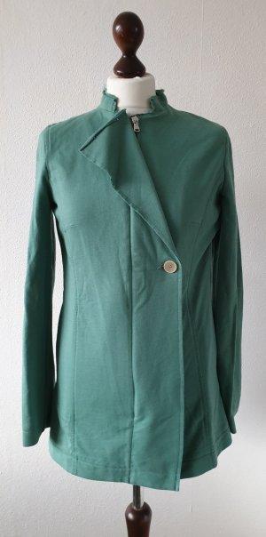 Sweat-Jacke / Blazer von United Colors of Benetton * Gr.36 * grün * ausefranster Kragen