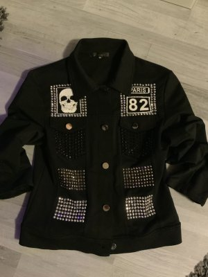 Giorgia Shirt Jacket black-silver-colored