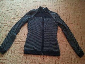 Sweat Jacke schwarz grau Streifen Timezone Gr. XS S Cut-Outs