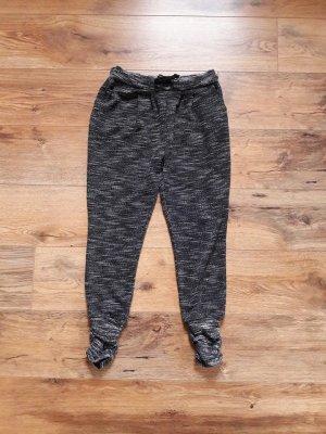 Sweat Pants Jogging Hose schwarz weiß Gr. M