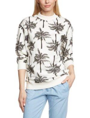Sweat Pieces by Vero Moda Damen Sweatshirt Pulli mit Pnint Gr.L/40 Oversize Neu