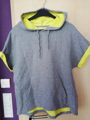 Mango Sweater met korte mouwen goud-grijs
