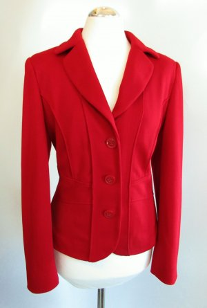 Sweat Soft Blazer Betty Barclay Größe L 42 Rot Kirschrot Dunkelrot Jersey Kurzblazer Tailliert Business Jacke