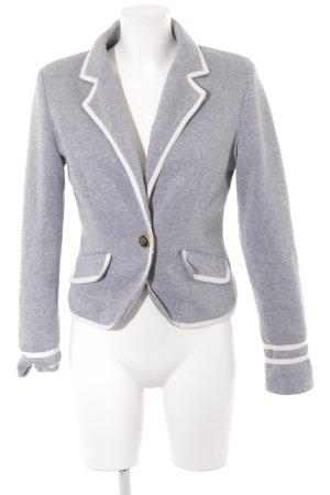 Sweatblazer grau-weiß meliert Casual-Look