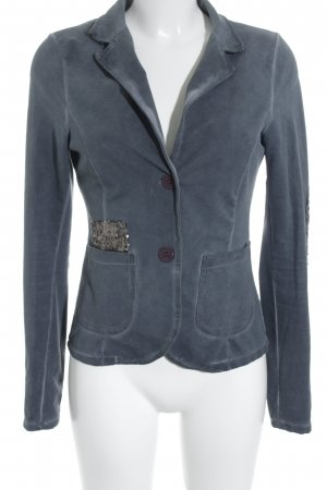 Sweat Blazer slate-gray-gold-colored minimalist style