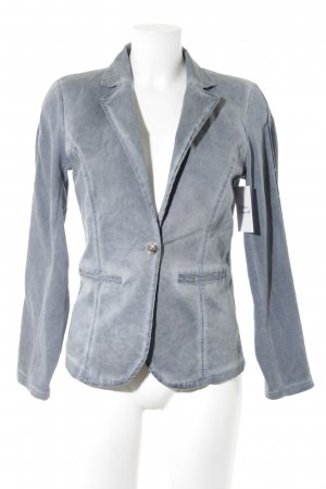 Sweatblazer graublau Jeans-Optik