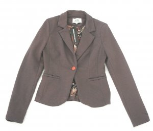 Sweatblazer in taupe Gr. 36