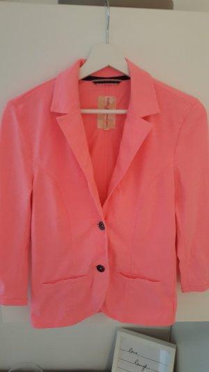 Tom Tailor Denim Blazer de tela de sudadera rosa neón