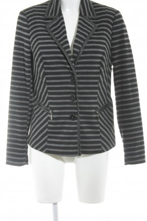 Sweat Blazer black-grey striped pattern casual look
