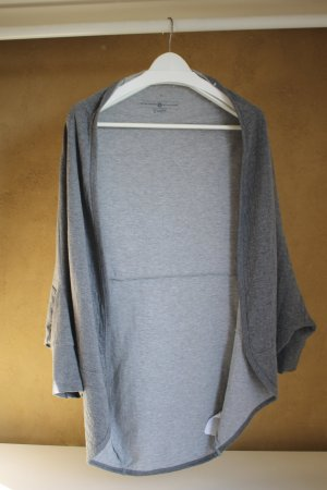 Tom Tailor Denim Veste oversize gris clair-gris foncé tissu mixte