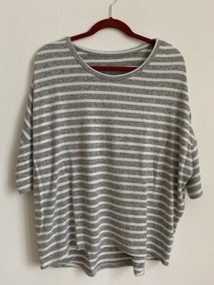 Orsay Pull oversize gris clair-blanc