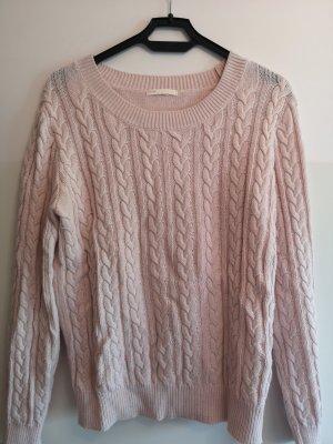 H&M Jersey de lana rosa empolvado
