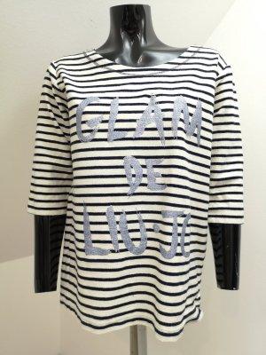 Liu jo Sweater natural white-dark blue