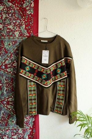 Sweater / Azteken Pulli / BOHO / Indian / Navy Pulli / Zara