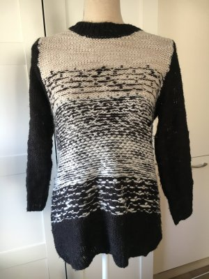 Sweater Black White Silver