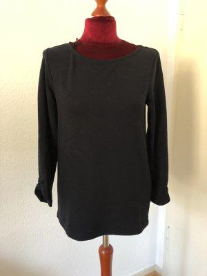 Sweater Dunkelblau mit Raffungen an den Ärmeln
