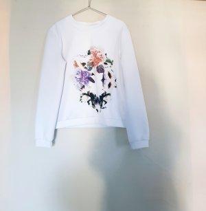 Sweater finders keepers gr. M weiß white blumenprint