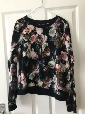 Sweater Floral Monki schwarz & nude