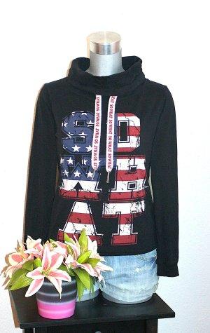 Sweater Hoodie Gr. 38/40 Pullover Schwarz America