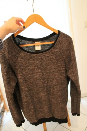 Sweater in Khaki/Schwarz