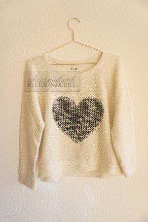 Sweater mit Herz Print