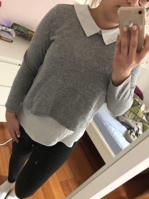 Colletto camicia bianco-grigio