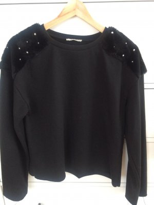 Sweater mit Perlenapplikation