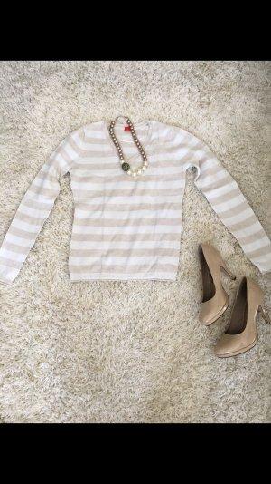 Sweater Oberteil Shirt Pulli Esprit weiß creme S 36 NEU