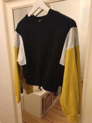 Sweater Pulli gelb schwarz weiß
