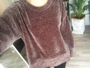 Zara Pull oversize brun rouge