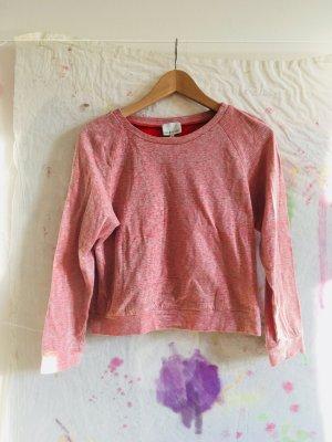 Suéter rojo claro-blanco Algodón