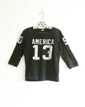 sweater / shirt / nummern shirt / vintage / dunkelgrau