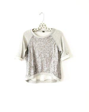 sweater / shirt / top / free people / grau / pailletten / boho / edgy