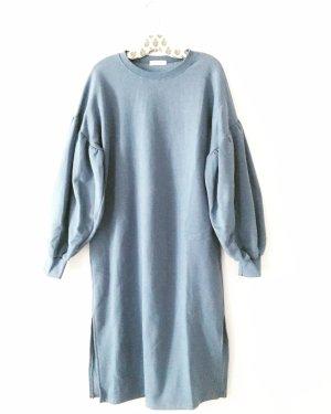 sweater • sweat kleid • oversized • puffärmel • vintage • boho • hippie • blau