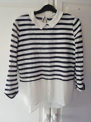 Tally Weijl Colletto camicia bianco-blu scuro