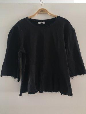 Mango Sweat Shirt black cotton