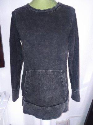 Sweater used black mit Seitenschlitz