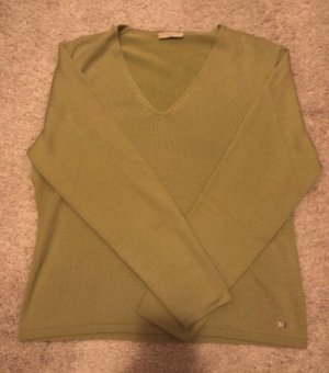 Brax V-Neck Sweater green grey