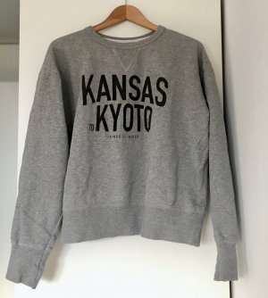 Kings of Indigo Sweatshirt argenté coton