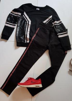 Joggingkleren wit-zwart Katoen
