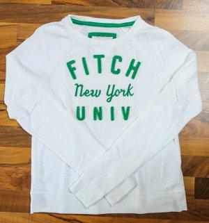 Sweater Weiß/Grün Abercrombie+Fitch